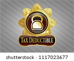 gold emblem or badge with... | Shutterstock .eps vector #1117023677