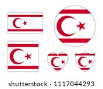 northern cyprus flags set | Shutterstock .eps vector #1117044293