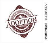 red adoption rubber grunge... | Shutterstock .eps vector #1117045877