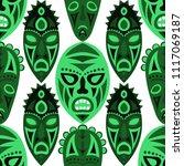 seamless pattern. tribal... | Shutterstock .eps vector #1117069187