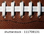 American Football Laces Up Close and Detail - stock photo
