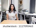 student in classroom  happy ... | Shutterstock . vector #1117090463