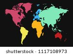 world map vector | Shutterstock .eps vector #1117108973