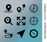vector icon set about location...