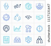 hr icon set and team success... | Shutterstock .eps vector #1117131647