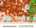grunge texture of old rusty... | Shutterstock . vector #1117141763