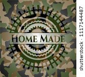 home made on camouflaged pattern | Shutterstock .eps vector #1117144487