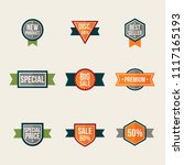 set of promo labels. isolated... | Shutterstock .eps vector #1117165193