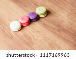 colorful french macarons on... | Shutterstock . vector #1117169963