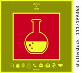 test tube with bubbles symbol... | Shutterstock .eps vector #1117199363