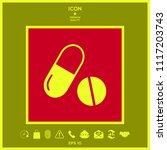 medicines pills   capsule and... | Shutterstock .eps vector #1117203743