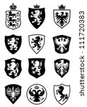 set of shield heraldry | Shutterstock .eps vector #111720383