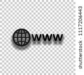 symbol of internet with globe... | Shutterstock .eps vector #1117206443