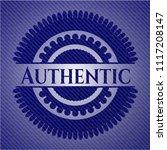 authentic badge with denim...   Shutterstock .eps vector #1117208147