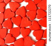 red hearts love background - stock photo