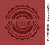 authentic realistic red emblem   Shutterstock .eps vector #1117226057
