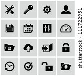 Settings icons set. - stock vector