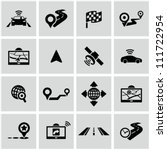 Navigation icons set. - stock vector