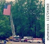 firetruck american flag   Shutterstock . vector #1117241063