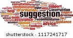 suggestion word cloud concept.... | Shutterstock .eps vector #1117241717