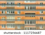 Small photo of Tracking people. Peeping for neighbors. A view of the house on against
