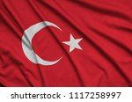 turkey flag  is depicted on a...   Shutterstock . vector #1117258997