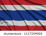 thailand flag  is depicted on a ...   Shutterstock . vector #1117259003