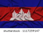 cambodia flag  is depicted on a ...   Shutterstock . vector #1117259147