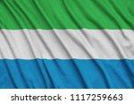 sierra leone flag  is depicted...   Shutterstock . vector #1117259663