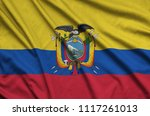 ecuador flag  is depicted on a...   Shutterstock . vector #1117261013