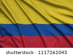 colombia flag  is depicted on a ...   Shutterstock . vector #1117261043