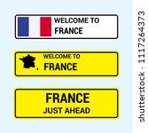 france traffic signs board... | Shutterstock .eps vector #1117264373