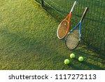 tennis ball and rackets under... | Shutterstock . vector #1117272113