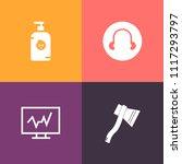 modern  simple vector icon set... | Shutterstock .eps vector #1117293797