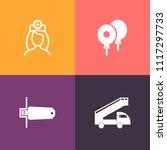 modern  simple vector icon set... | Shutterstock .eps vector #1117297733