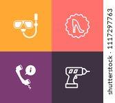 modern  simple vector icon set...   Shutterstock .eps vector #1117297763