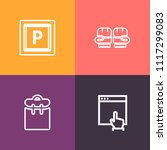 modern  simple vector icon set... | Shutterstock .eps vector #1117299083