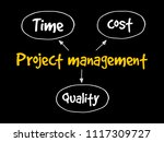 project management  time cost... | Shutterstock .eps vector #1117309727