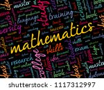 mathematics word cloud collage  ... | Shutterstock .eps vector #1117312997