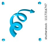 set of 3d arrow vector icons.... | Shutterstock .eps vector #1117316747