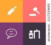 modern  simple vector icon set... | Shutterstock .eps vector #1117319693