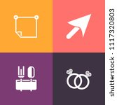 modern  simple vector icon set... | Shutterstock .eps vector #1117320803