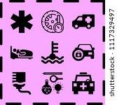 simple 9 icon set of medicine... | Shutterstock .eps vector #1117329497