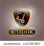 shiny emblem with cargo icon...   Shutterstock .eps vector #1117347857