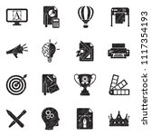 branding icons. black scribble...   Shutterstock .eps vector #1117354193