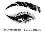 illustration of eye makeup and... | Shutterstock .eps vector #1117358603