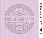 free membership pink emblem.... | Shutterstock .eps vector #1117371833