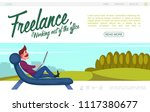 flat freelance website colorful ...   Shutterstock .eps vector #1117380677