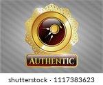 golden emblem or badge with...   Shutterstock .eps vector #1117383623