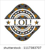 lol  arabesque emblem... | Shutterstock .eps vector #1117383707